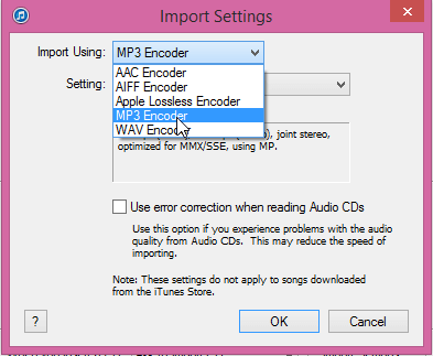 Import Settings