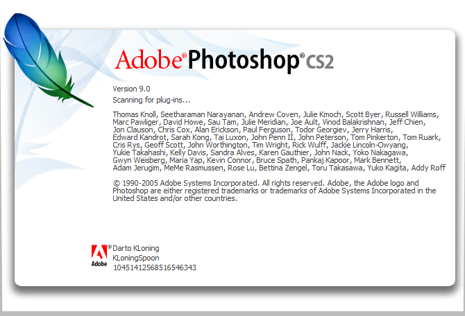 Windows: Disable Registration and Updater on Photoshop CS2