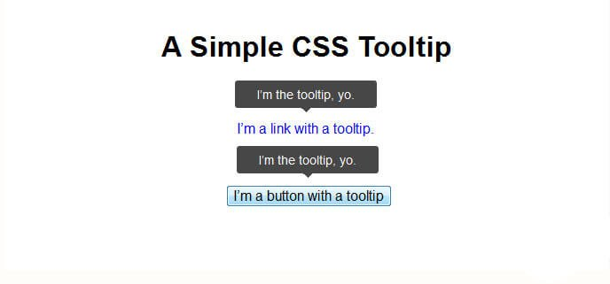 CSS: Simple Tooltip With Pseudo Elements, the Triangle Hack, and Data Attributes