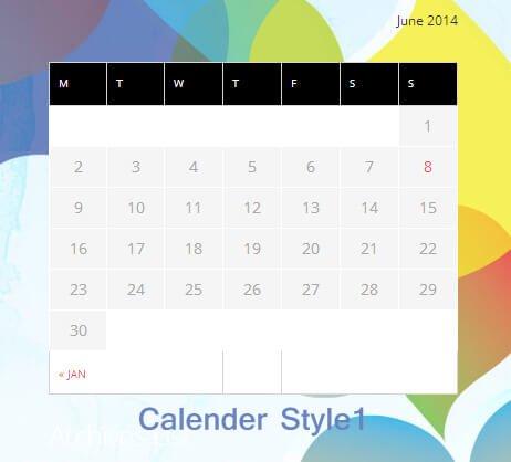 wordpress-calendar-widget-style1