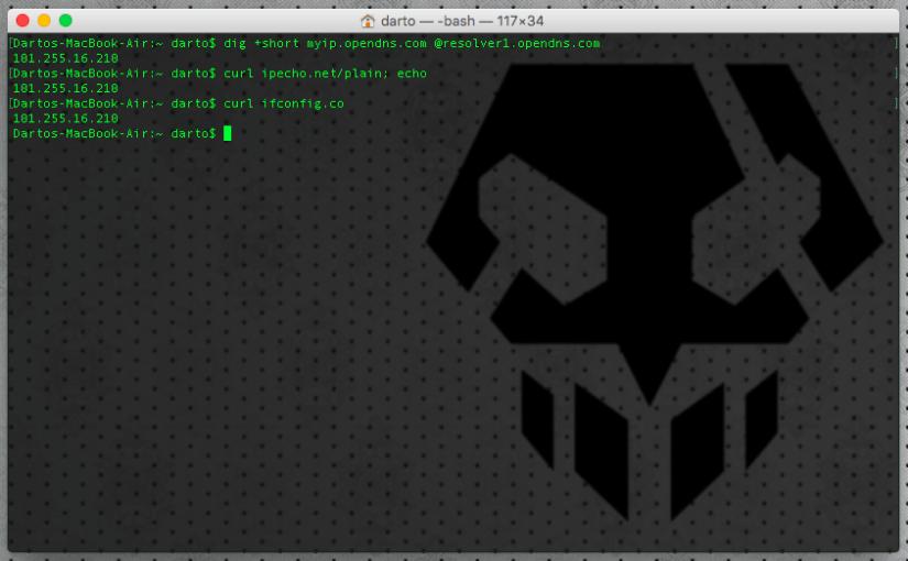 Mac: Cara Mendapatkan IP Public Melalui Terminal (Command Line)