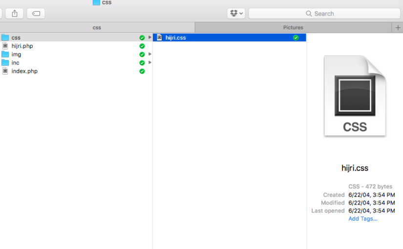 macOS: Preview File CSS dan Text File di Finder dan Quick Look